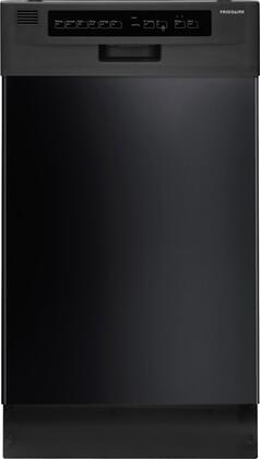 """Frigidaire 18"""" Built-In Dishwasher with Stainless-Steel Tub Black FFBD1821MB"""