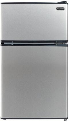 MRF-340DS 19 inch  Energy Star Rated Compact Top Freezer Refrigerator with 3.4 cu. ft. Total Capacity  2 Liter Bottle Door Storage  Manual Defrost  Reversible Doors