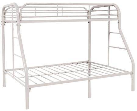 Sade Collection 9701-W Twin Over Full Bunk Bed with 2