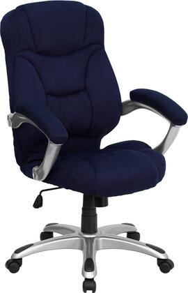 GO-725-NVY-GG High Back Navy Blue Microfiber Upholstered Contemporary Office