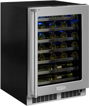 MP24WSG5RS 24 inch  Marvel Professional High-Efficiency Single Zone Wine Refrigerator with Dynamic Cooling Technology  Vibration Neutralization System  Thermal
