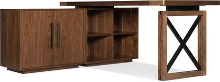 1650-10052-MWD-CB-BK 3-Piece Desk Set with Desk  Cabinet and Bookcase in Medium