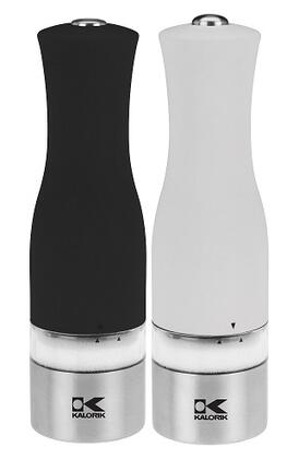 PPG 40741 SET WBK Contempo Stainless Steel  Black and White Electric Salt and Pepper Grinder