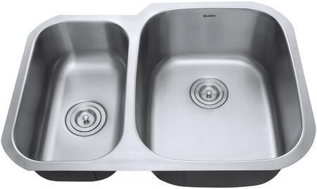 RVM4505 Undermount 16 Gauge 29 inch  Kitchen Sink Double Bowl - Right