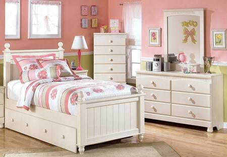 Cottage Retreat Queen Bedroom Set With Poster Bed  Dresser And Mirror In
