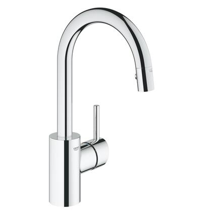 Grohe 31479000 Concetto Single-Handle Kitchen Faucet, Starlight