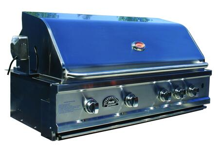 "SO42BQR 42"""" Built-In Natural Gas Grill w/Rotisserie (Natural gas with LP conversion kit)  4 x 15 000 BTU Tube Burners  Stainless Steel"" 154413"