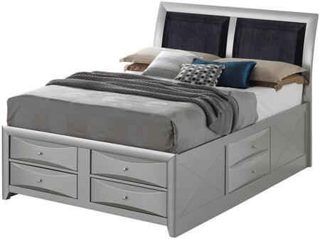 G1503I-FSB4 Full Storage Bed with Dovetailed Drawers  Round Knobs  and Beveled Drawer Fronts in