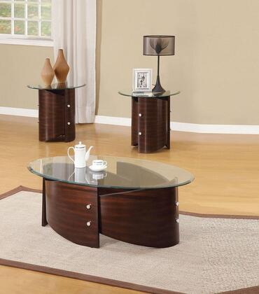 Dajon 80193CE 3 PC Living Room Table Set with Coffee Table + 2 End Tables in Espresso