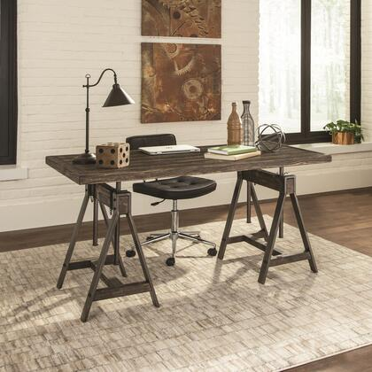Deponte Collection 801771SET 2 PC Home Office Set with Desk + Office Chair in Burnished Cognac