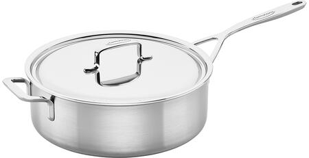 Demeyere 18428A-18528 5-Plus Stainless Steel 6.5-Qt Saute Pan With Helper Handle