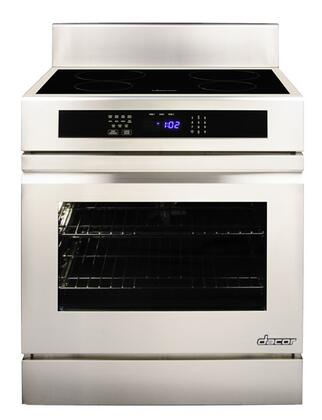 "RNR30NFS 30"" Freestanding Induction Range with Black Ceramic Glass SenseTech Technology 4.8 Cu. Ft. Oven Capacity 2 GlideRacks and Hidden Bake Element in"