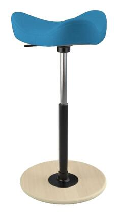 MOVE 2600 DINIMICA 9056 NAT HI BLK 26 inch  - 34 inch  Sit-Stand Chair with Dinimica Upholstery  9056 Color Code  Natural Ash Base  High Lift Height and Black Gas