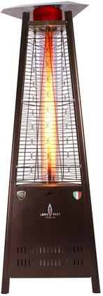 LHI-106 Liquid Propane Triangular 6 ft. Tall Commercial Flame Patio Heater with 42 000 BTU Power Rating  5 ft. Heat Radius and Safety Tilt Switch in Heritage