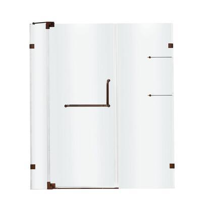 VG6042RBCL54 VIGO Pirouette 54-inch Frameless Shower Door 3/8 inch  Clear Glass/Oil Rubbed Bronze