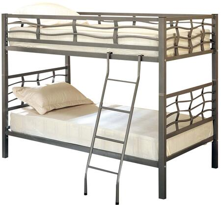Bunk Collection 7395 Coaster Metal Twin over Twin Bunk Bed in Gunmetal