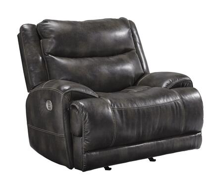 Brinlack Collection 8560213 48 inch  Power Recliner with Adjustable Headrest  Faux Leather Upholstery and USB Port in