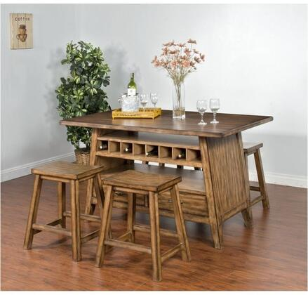 Cornerstone Collection 1398BMDT4S 5-Piece Dining Room Set with Dining Table and 4 Stools in Burnished