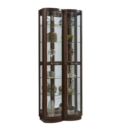 P021592 Pacific Heights Curved Front Curio In