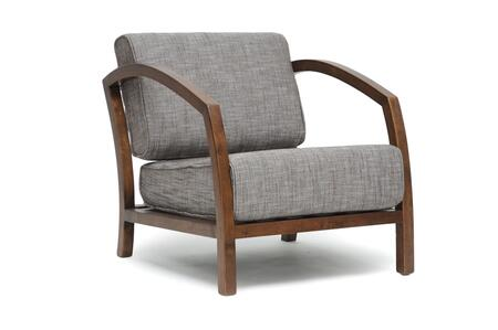 VELDA LOUNGE CHAIR-109/690 Baxton Studio Velda Modern Accent Chair  In Brown And