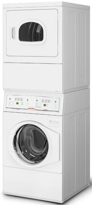 "LTEE5ASP155TW01 27"""" Commercial Stacked Washer and Electric Dryer Combo with Homestyle Controls  208 Volts  in"" 893822"