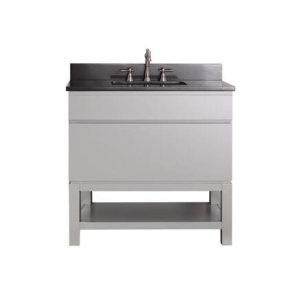 TRIBECA-VSB36-CG-A Avanity Tribeca 36 in. Vanity Combo with Base in Chilled Gray