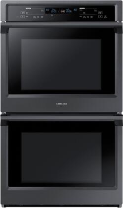 "NV51K6650DG 30"" Double Wall Oven with 10.2 cu. ft. Total Capacity  Dual Fan True Convection  Steam Cooking  Backlit Touch Controls and Wifi  in Black Stainless"