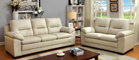 Parma Collection CM6324IV-SL 2-Piece Living Room Set with Stationary Sofa and Loveseat in
