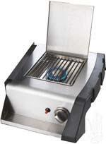 N370-0392-1 Side Burner with 13 000 BTU  Quick Connect (L.P.)  Hoses Included  Contoured Condiment Tray and Tool Hooks: Liquid