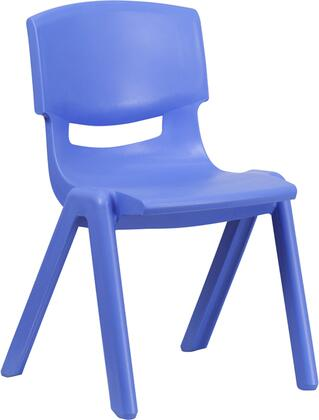 YU-YCX-005-BLUE-GG Blue Plastic Stackable School Chair with 15.5'' Seat