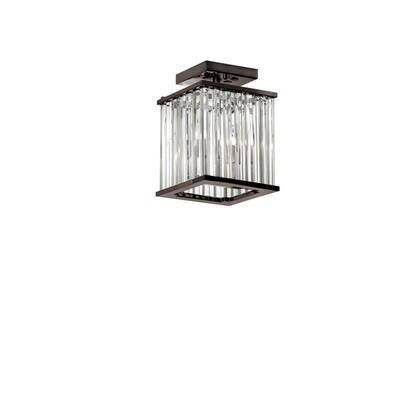 ARU-82FH-VOB 2 Light Crystal Flush Mount Fixture Vintage Oiled