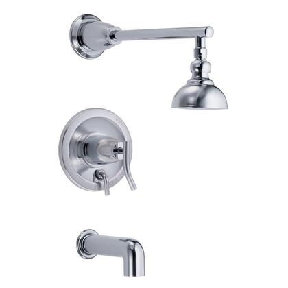 D504054T Sonora 1-Handle Pressure Balance Tub & Shower Trim Only in Chrome (Valve not