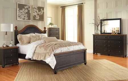 Maxington Queen Bedroom Set With Panel Bed  Dresser  Mirror And Single Nightstand In