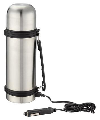 402401 12V Bottle Thermos with 12 V Power Outlet Plug  Insulated Serving Cup Lid and Double Wall Vacuum Insulation in