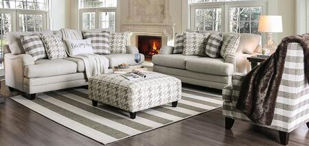 Christine SM8280-SFLVCHOT 4-Piece Living Room Sets with Sofa  Loveseat  Chair and Ottoman in Light