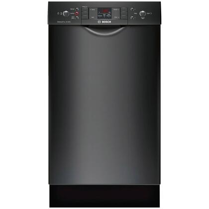 "Bosch 300 Series 18"" Front Control Tall Tub Built-In Dishwasher with Stainless-Steel Tub Black SPE53U56UC"