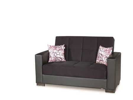 Armada Collection ARMADA LOVESEAT #6 BLACK/ BLACK 11-380 65