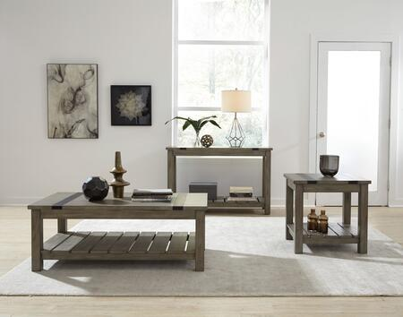 Nelson Collection 206-21-22-26 3-Piece Living Room Table Set with Coffee Table  End Table and Console Table in Rustic