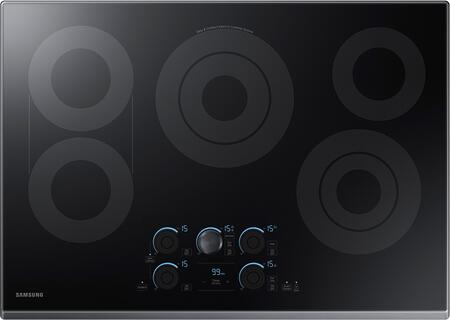 """NZ30K7570RG 30"""" Electric Cooktop with 5 Elements  Rapid Boil  Magnetic Knob Tap Touch  Sync Elements and Wifi  in Black Stainless"""