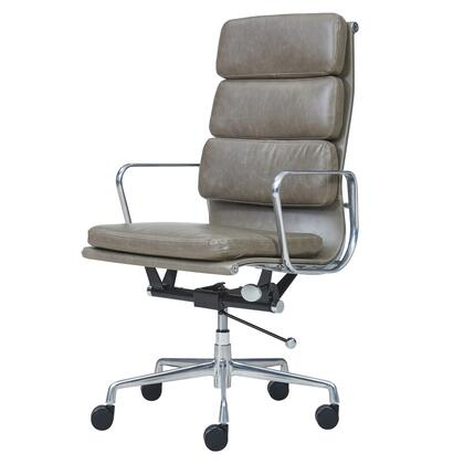 Chandel Collection 6900003-VS PU High Back Office Chair with 360 Degree Swivel  Adjustable Seat Height and Tufted Detailing in Vintage
