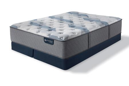 iComfort Hybrid 500822991-QMFLPSPLIT Set with Blue Fusion 100 Firm Queen Mattress + 2x Split Low Profile