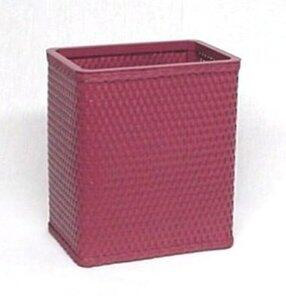 S426RB Chelsea Collection Decorator Color Square Wicker Wastebasket in