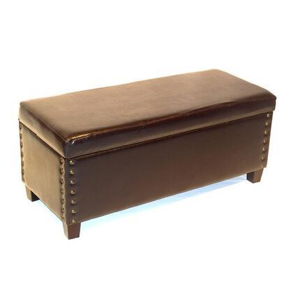 443747 Virginia Storage Bench Brown