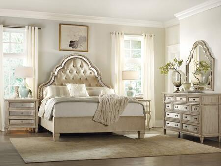 Sanctuary Collection 3023-90850-DR-2NS 4-Piece Bedroom Set with Bed  Dresser and 2 Nightstands in Pearl Essence
