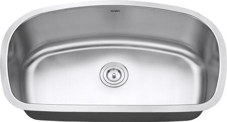 RVM4210 Undermount 16 Gauge 33 inch  Kitchen Sink Single