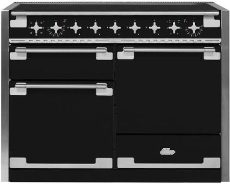 "AEL48INMBL 48"" AGA Induction Range with 6.0 cu. ft. Capacity Residual Heat Inductor Overheat Detection Child Safety Lock 9 Power Levels and Pan Detection"