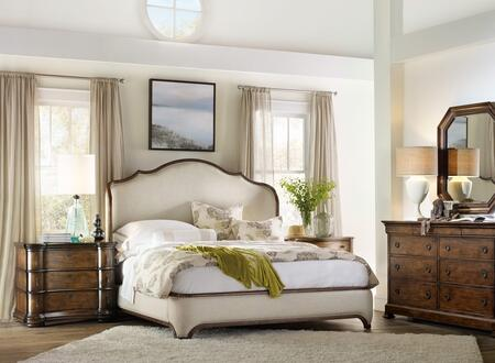 5447-90866KSBCCDM 5-Piece Archivist Collection Bedroom Set with King Size Shelter Bed + Bachelor Chest + Chest + Dresser + Mirror  in Dark