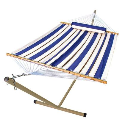 6290W98SPB Single Fabric Hammock with Matching Pillow and Frame Combination in