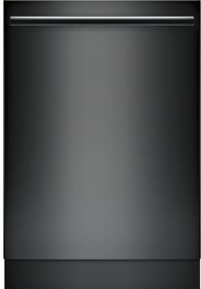 "Bosch 800 Series 24"" Bar Handle Dishwasher with Stainless Steel Tub Black SHXM78W56N"