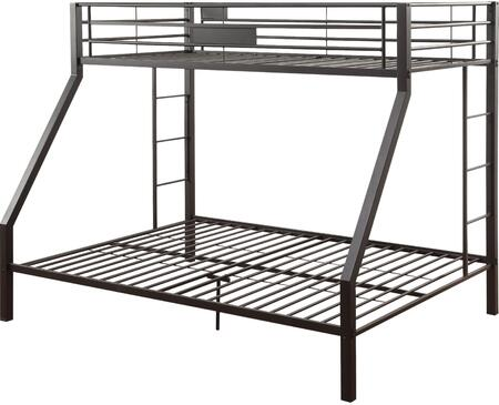 Limbra Collection 38000 Twin XL Over Queen Size Bunk Bed with Slat System Included  Built-in Side Ladder  Full Length Guardrail and Sturdy Metal Construction